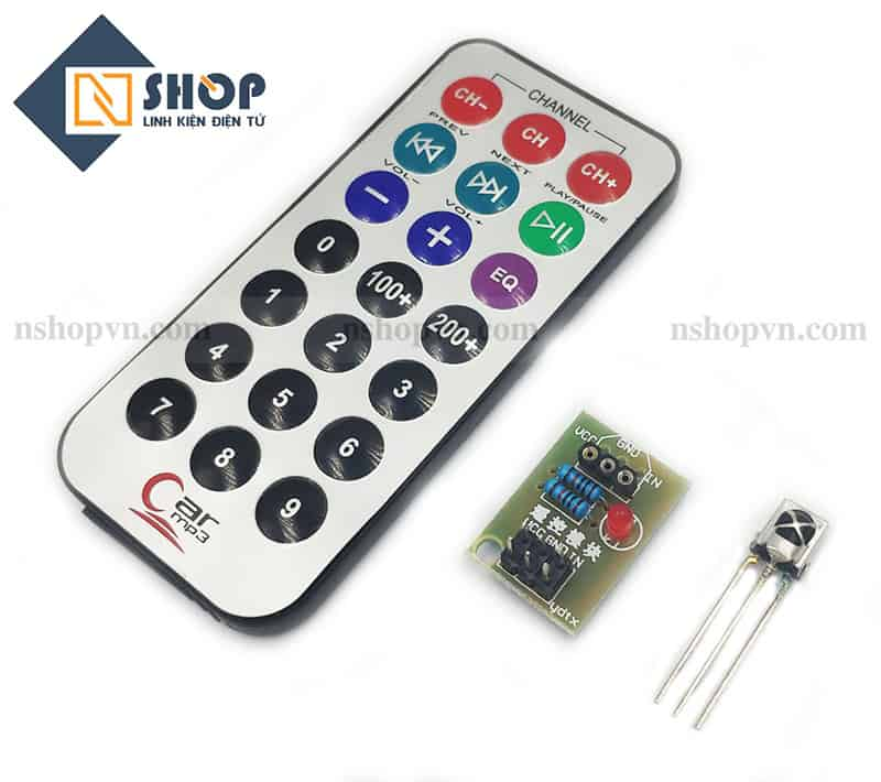 Module thu hồng ngoại + Remote IR1838