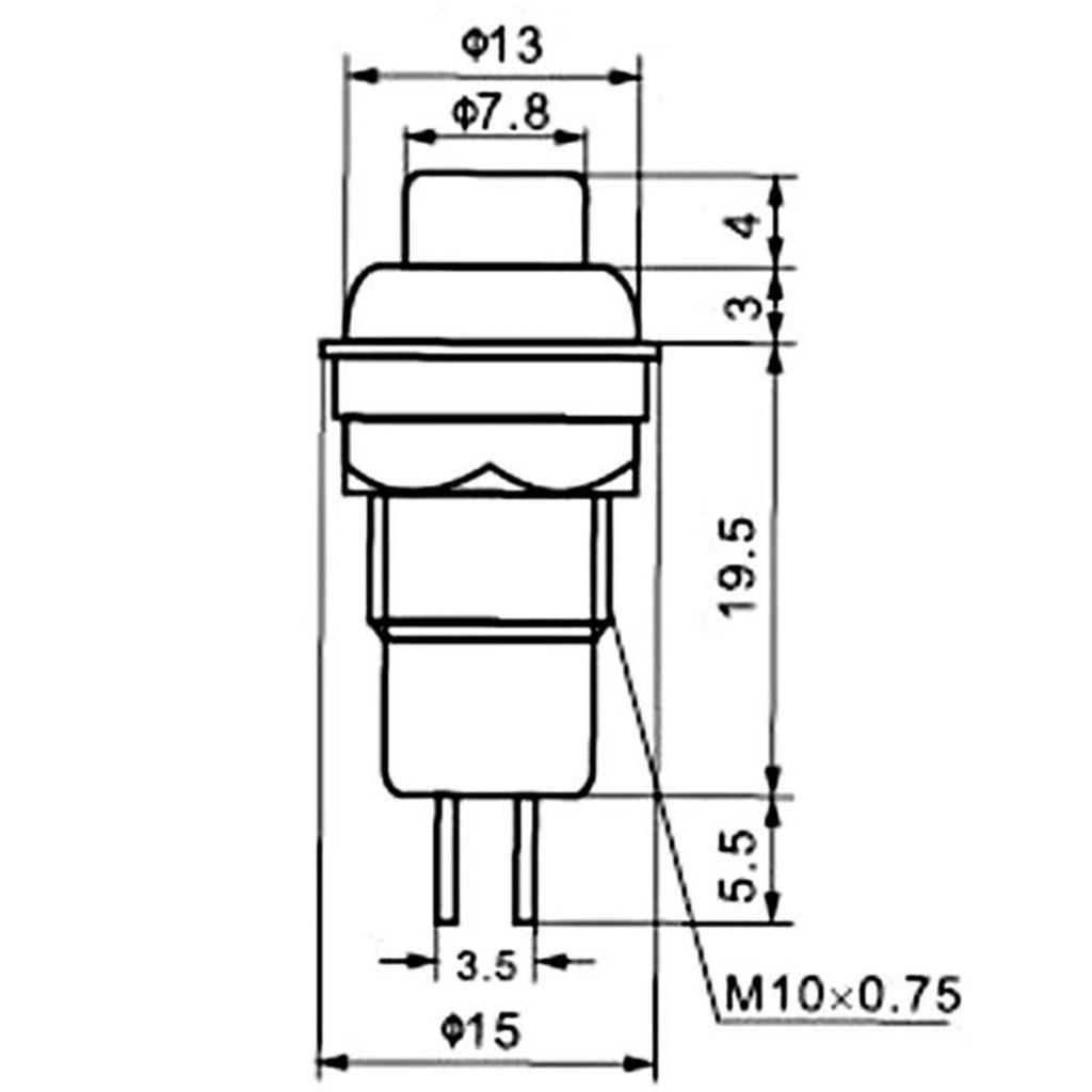 Kích thước Nút nhấn DS-213