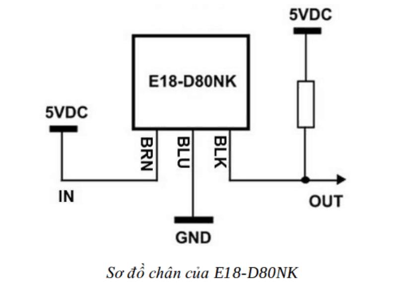 Cảm Biến Vật Cản Hồng Ngoại E18-D80NK
