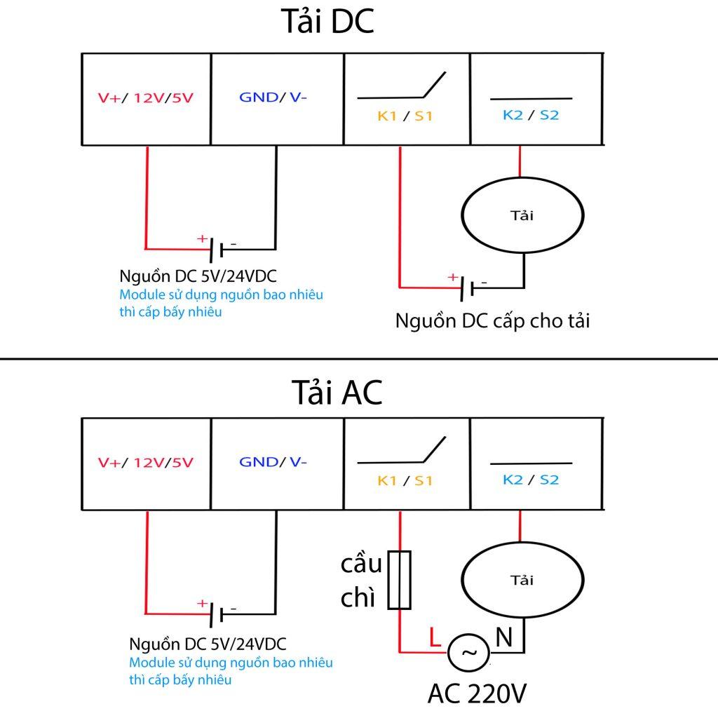 Sơ đồ kết nối cho Bộ khống chế nhiệt độ WT01