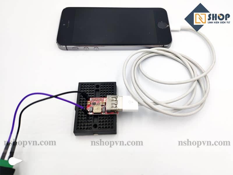 Mạch Giảm Áp 5V 3A sạc điện thoại