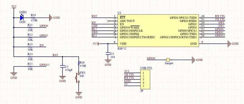 Thu phát wifi ESP8266 12E
