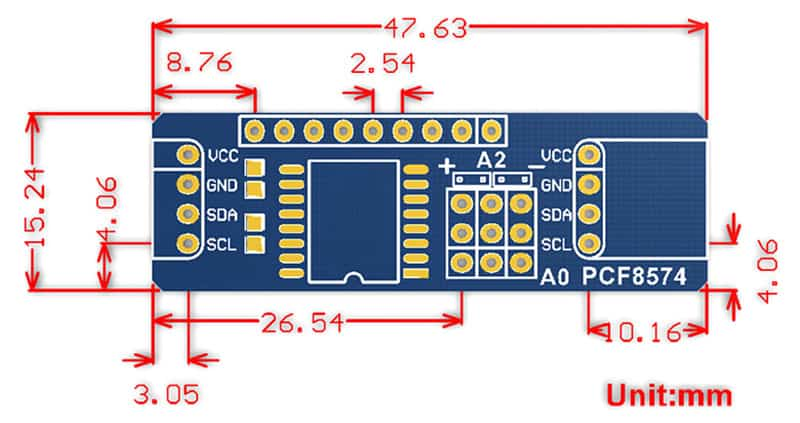 Mạch mở rộng I2C WaveShare PCF8574