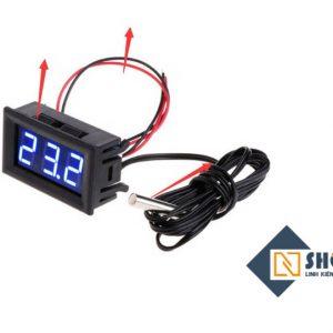 Đồng hồ đo nhiệt độ LED 12VDC Xanh Dương