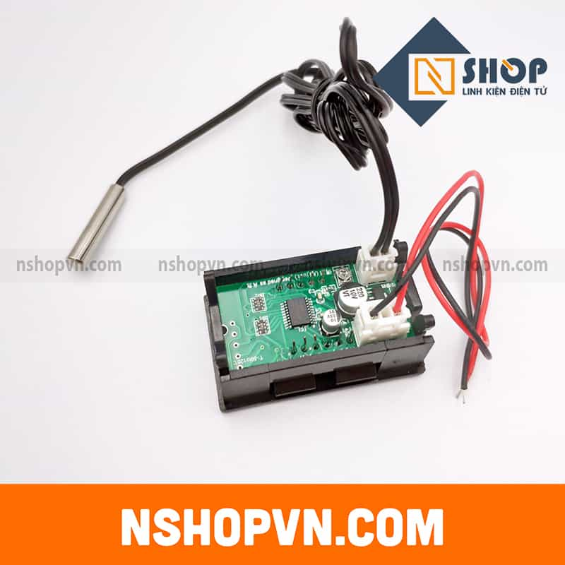 Đồng hồ đo nhiệt độ LED 12VDC Đỏ