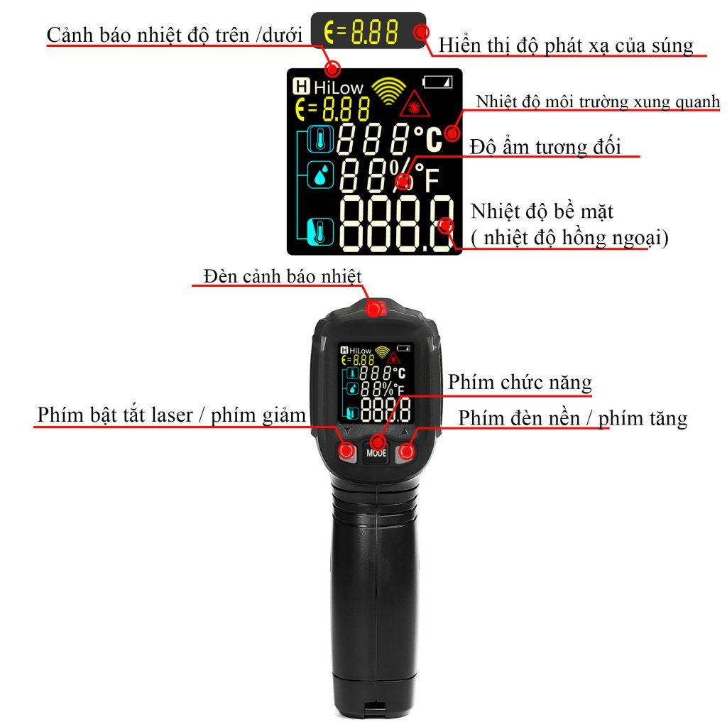 Máy đo nhiệt độ laser không tiếp xúc WinApex ET6531C