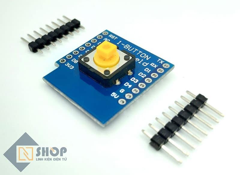 ESP8266 NodeMCU Lua D1 Mini 1 Button Shield