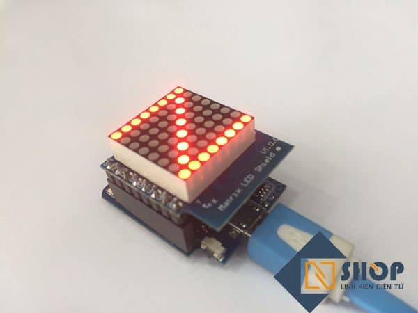 ESP8266 NodeMCU Lua D1 Mini Matrix Shield