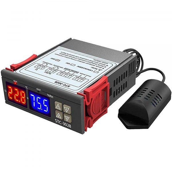 Bộ khống chế nhiệt độ, độ ẩm STC-3028 24VDC