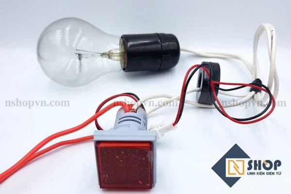 Đồng hồ đo dòng điện, điện áp 50-500VAC (Đỏ)