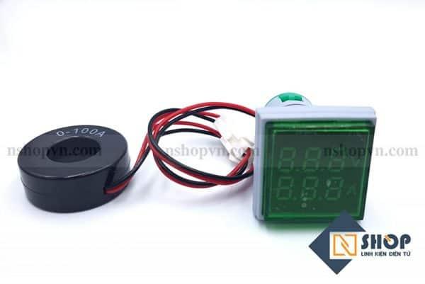 Đồng hồ đo dòng điện, điện áp 50-500VAC (xanh lá)