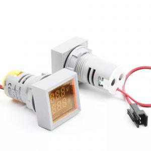 Đồng hồ đo dòng điện, điện áp 50-500VAC (vàng)