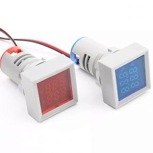 Đồng hồ đo dòng điện, điện áp 50-500VAC (xanh dương)