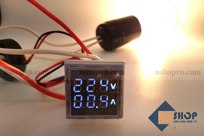 Đồng hồ đo dòng điện, điện áp 50-500VAC (Trắng)