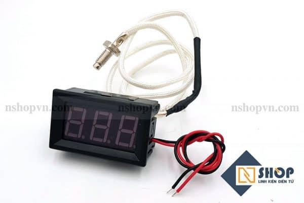 Đồng hồ đo nhiệt độ type K 800 độ C màu đỏ