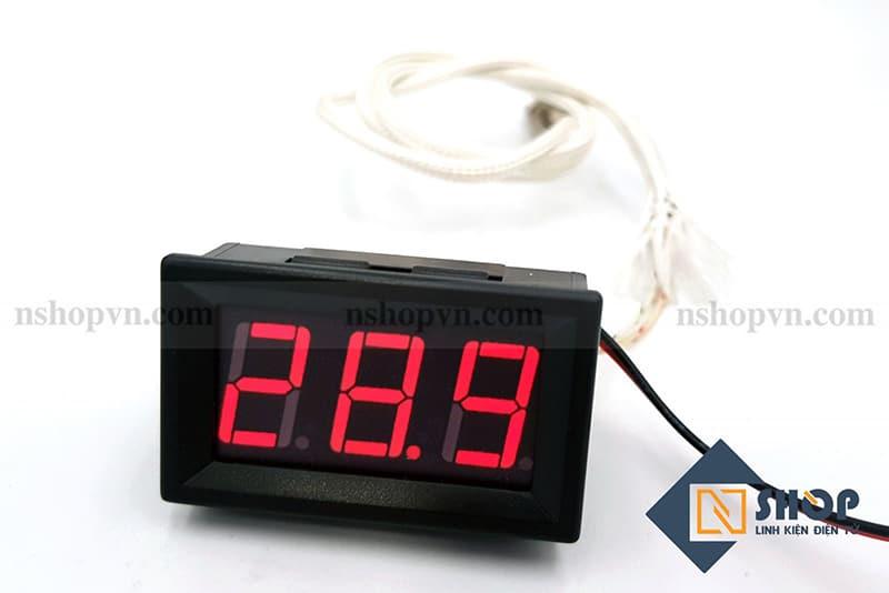 Đồng hồ đo nhiệt độ type K 800 độ C (đỏ)