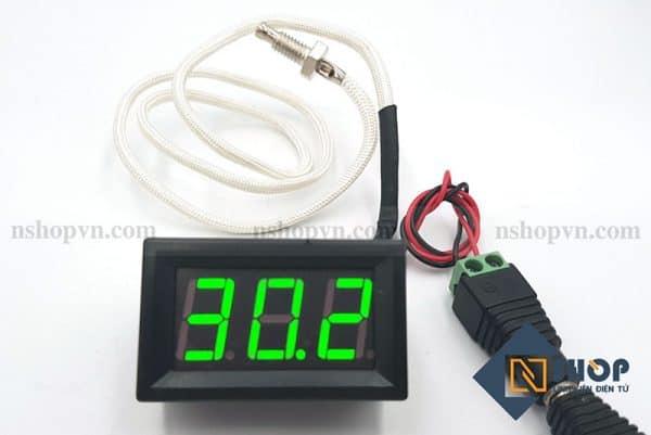 Đồng hồ đo nhiệt độ type K 800 độ C (xanh lá)