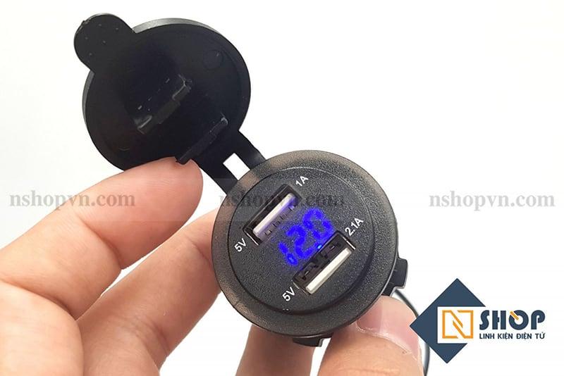 Mạch sạc điện thoại chống nước gắn xe 12-24VDC