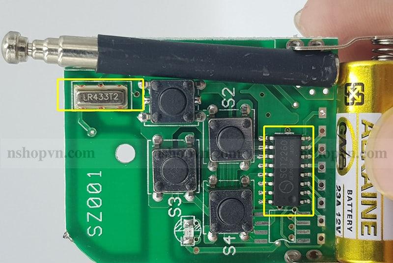 Remote 4 kênh 315Mhz mã hàn