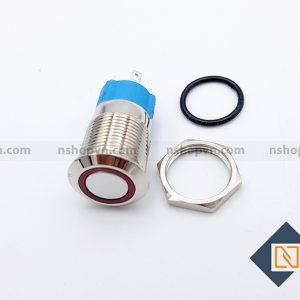 Nút nhấn kim loại 12mm Đỏ