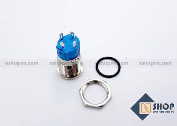 Nút nhấn kim loại 12mm Xanh lá