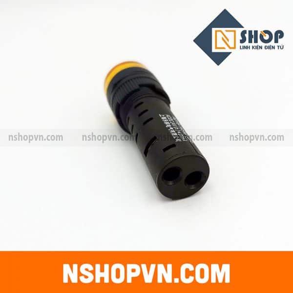 Đèn báo có còi AD16-16SM màu vàng 24V