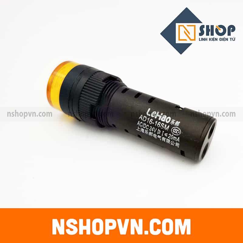 Đèn báo có còi AD16 màu vàng 24V