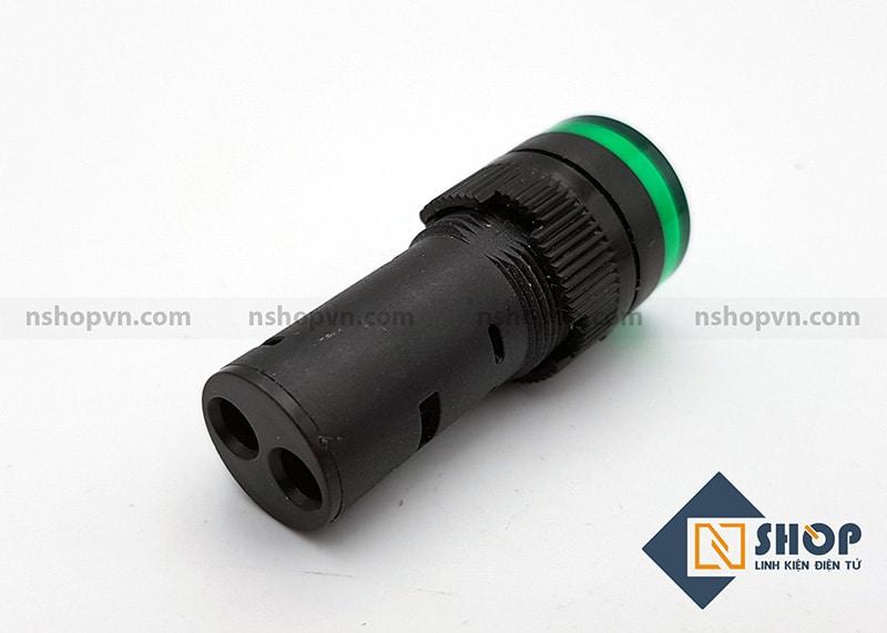 Đèn báo AD16 xanh lá 12V AD16-16C