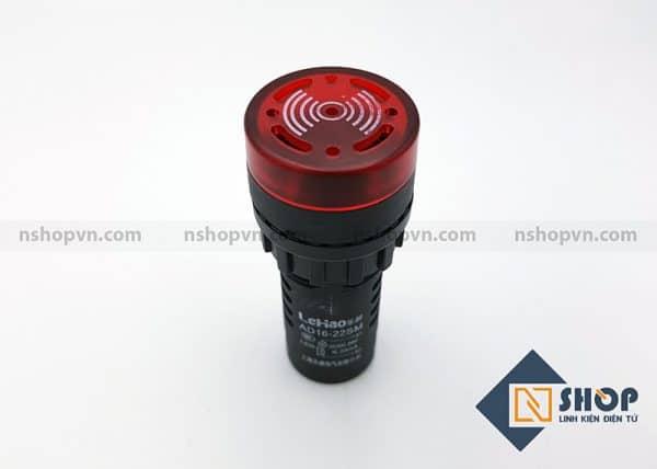 Đèn báo có còi AD16-22SM màu đỏ 12V
