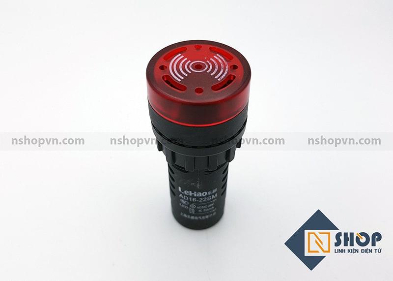 Đèn báo có còi AD22 màu đỏ 24V