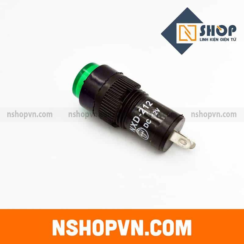 Đèn báo NXD-212 Xanh lá 12VDC