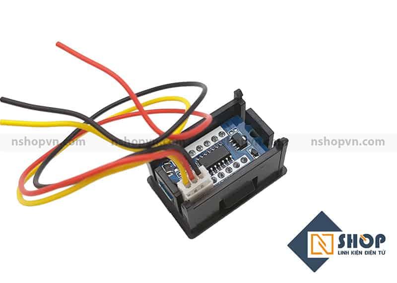 Đồng hồ đo điện áp 3 dây 100VDC đỏ