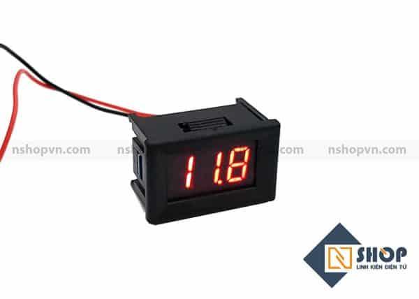 Đồng hồ đo áp Led Đỏ 30v có vỏ bảo vệ