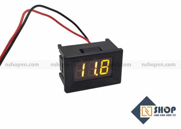 Đồng hồ đo áp 30V Led Vàng có vỏ bảo vệ