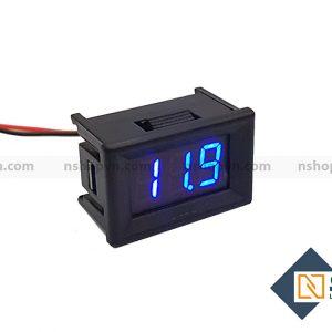 Đồng hồ đo áp 30V Xanh Dương có vỏ bảo vệ