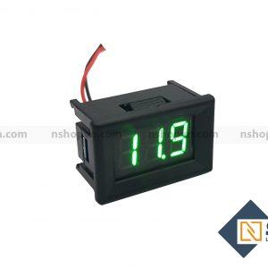 Đồng hồ đo áp 30VDC Xanh lá có vỏ bảo vệ