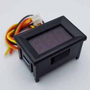 Đồng hồ đo điện áp 3 dây 100V Xanh Dương