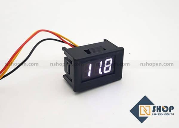Đồng hồ đo điện áp 3 dây 100VDC trắng