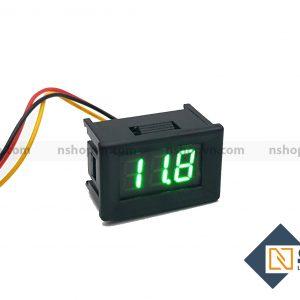 Đồng hồ đo điện áp 3 dây Xanh Lá 100VDC