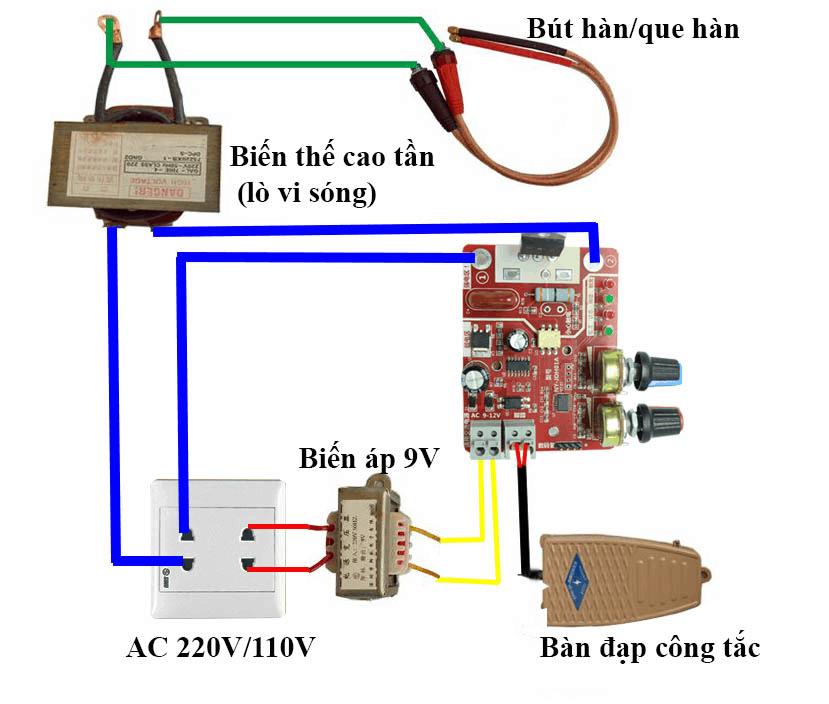 Mạch điều chỉnh hàn cell pin 40A