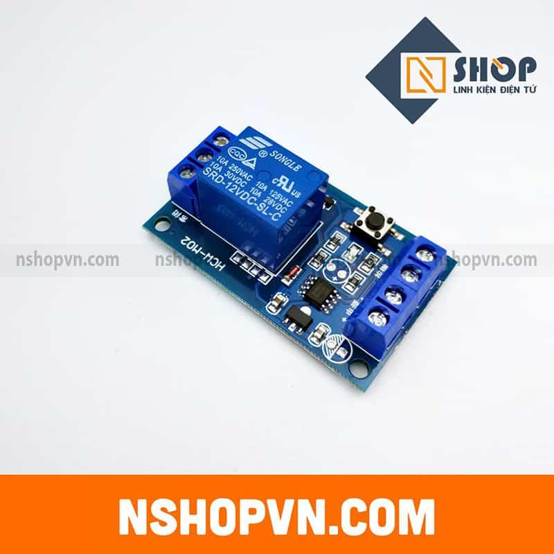 Module kích hoạt relay bằng nút nhấn
