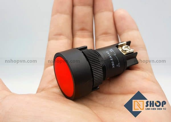 Nút nhấn XB2 EA142 thường đóng (đỏ)