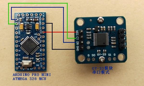 Cảm biến màu RGB TCS34725 giao tiếp I2C và UART