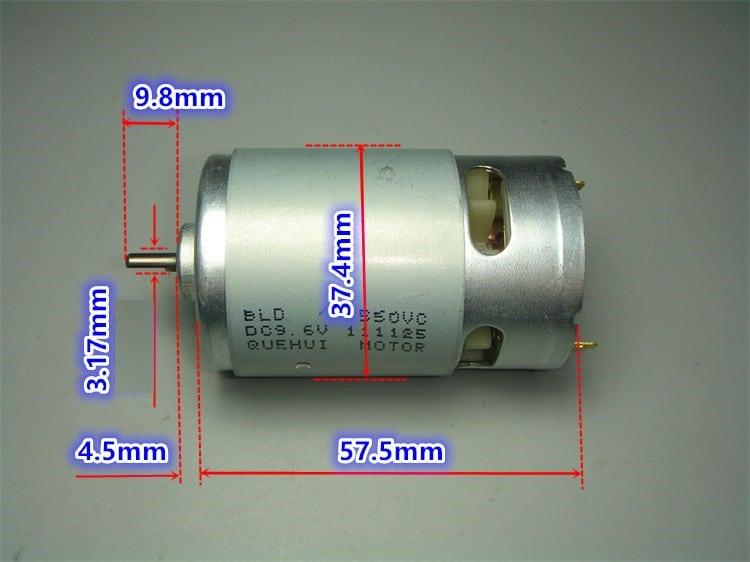Động cơ 550 trục ngắn
