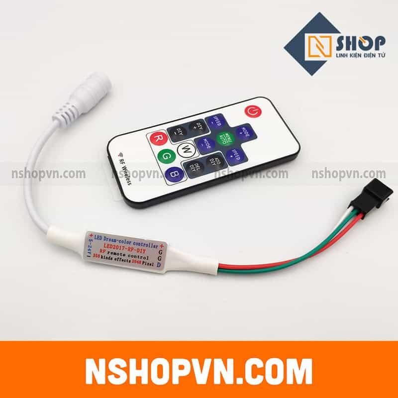 Bộ điều khiển Led WS2812 từ xa Mini Dream 14 key 5-24VDC cho WS2812 WS2812B WS2811 Dải sáng DC5-24V