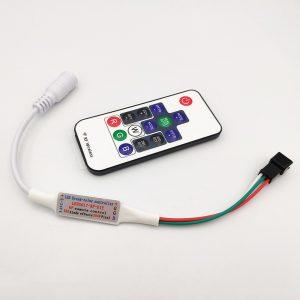Bộ điều khiển 14 phím LED Mini Dream Color706918 cho WS2812 WS2812B WS2811 Dải sáng DC5-24V