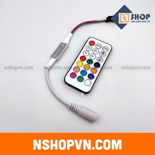 Bộ điều khiển 21 phím LED Mini Dream Color706918 cho WS2812 WS2812B WS2811 Dải sáng DC5-24V