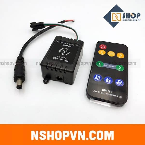Bộ điều khiển Led W2812 nháy theo nhạc SP106E 5-12VDC