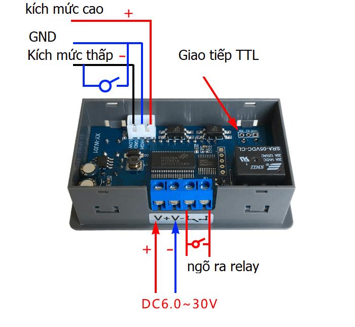 Mạch tạo trễ đóng ngắt thiết bị (Delay relay module)