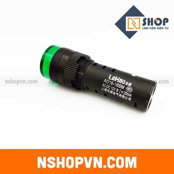 Đèn báo có còi AD16-16SM màu xanh 24V